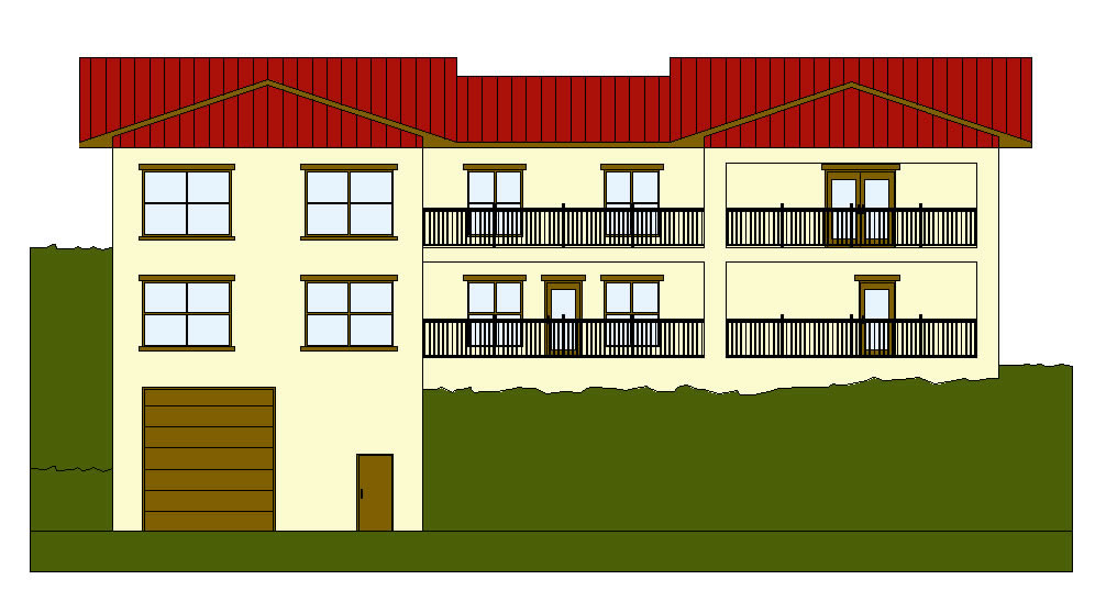 Front Elevation Residential Building Autocad : Freelance cad drafting autocad d and drawings