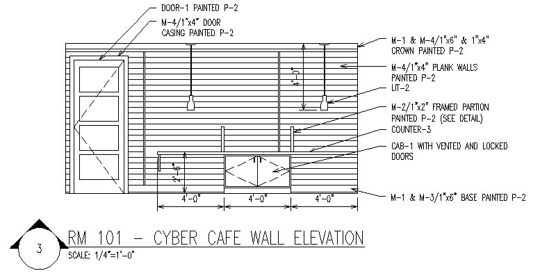 commercial space elevation plan